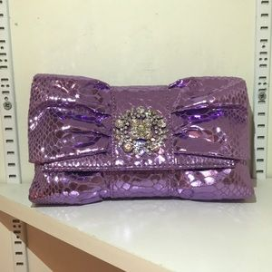 Iman lilac cocktail clutch